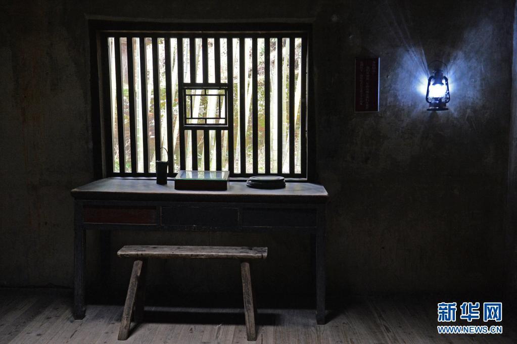 这是井冈山茅坪八角楼毛泽东旧居内景(2016年2月2日摄)。新华社记者 万象 摄