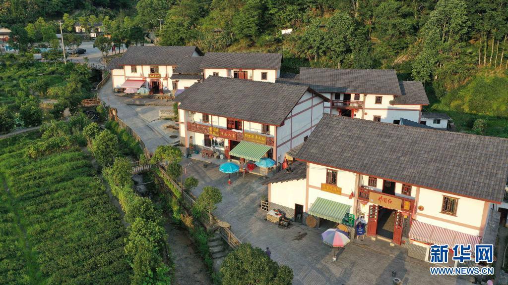 这是井冈山神山村(无人机照片,2020年7月15日摄)。新华社记者 彭昭之 摄