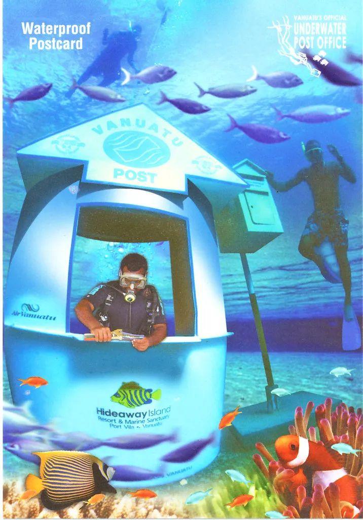 △瓦努阿图水下邮局 。 /flickr