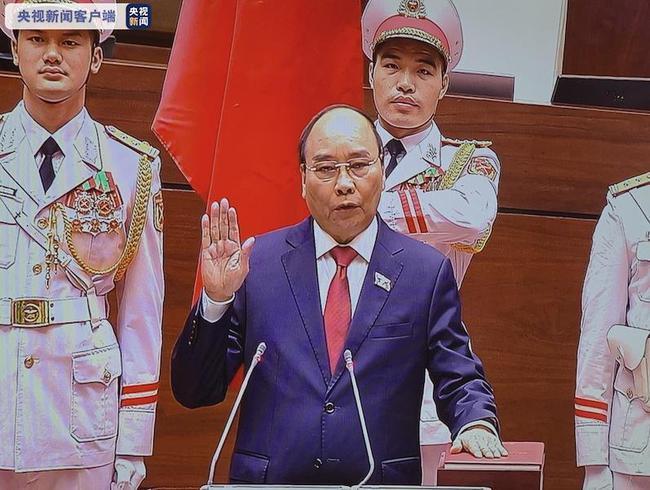 阮春福宣誓就职 系越南现任政府总理首次被选为国家主席