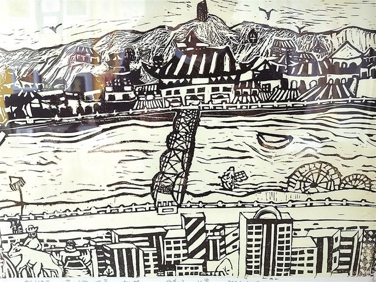 历时3周走遍兰州黄河两岸 9名小学生创作4米木刻版画