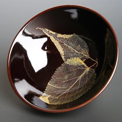 吉州窑树叶盏。来源/网络