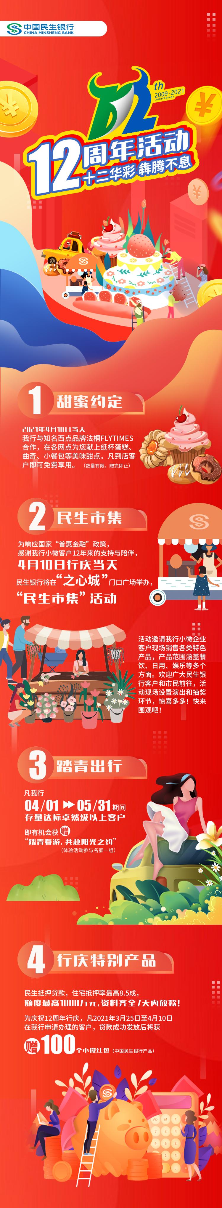 """十二华彩 犇腾不息——中国民生银行合肥分行12周年行庆客户回馈""""嘉年华""""全面开启!"""