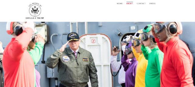 特朗普个人网站开通 承接各种红白喜事祝词