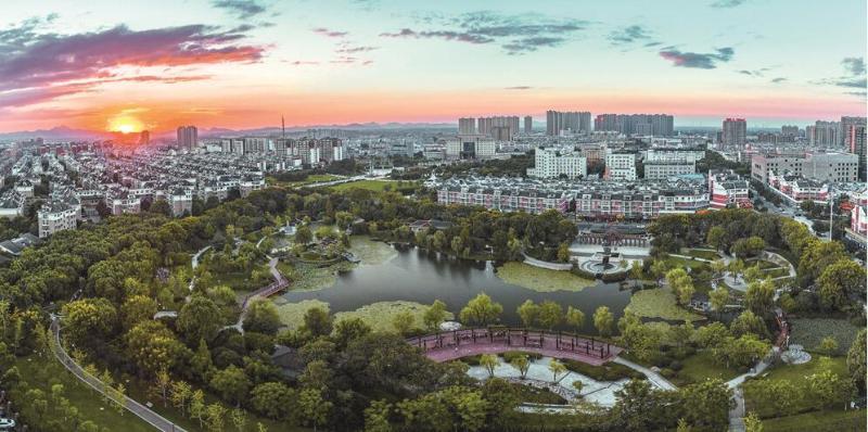 南陵春谷公园景观 来源/南陵县人民政府网
