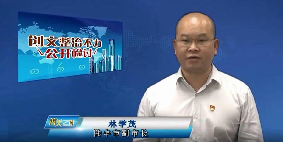 环境整治不力,广东陆丰副市长又上电视公开检讨