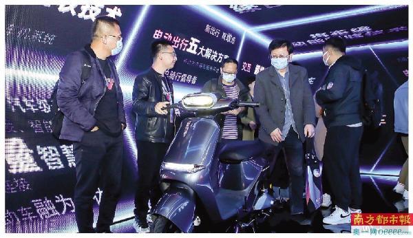 4月7日,哈啰出行举行发布会,当天发布了三款智能两轮电动车。 受访者供图