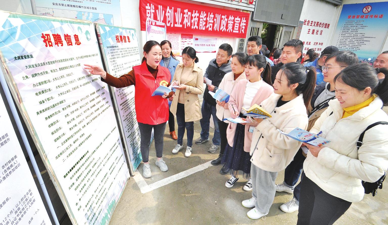 安庆:岗位进社区 点亮就业梦