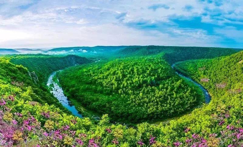 黑河锦河大峡谷