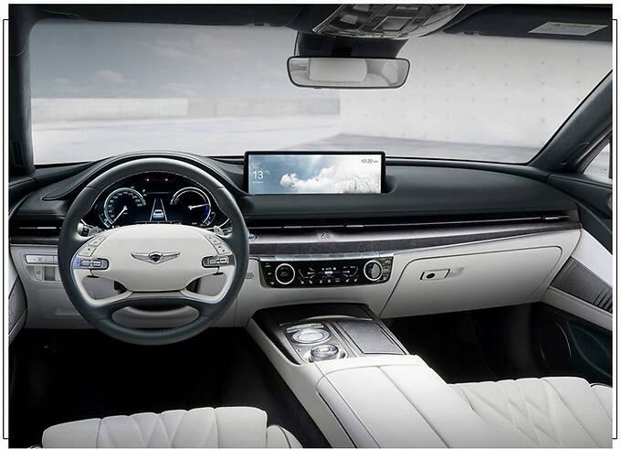 捷尼赛思G80新车型发布 封闭格栅/车顶配太阳能板-图7