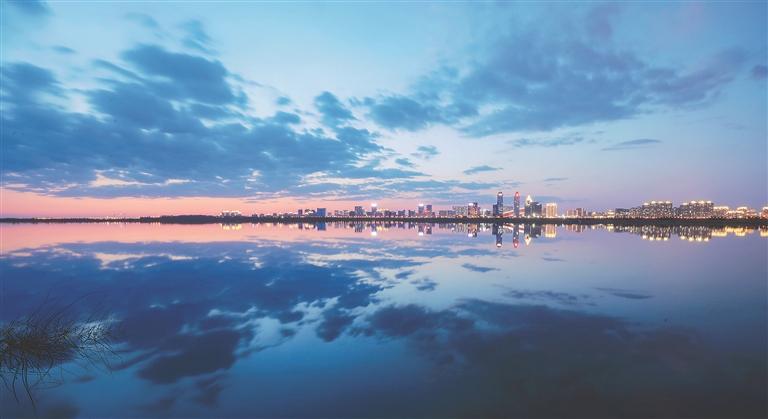 哈尔滨滨江湿地。