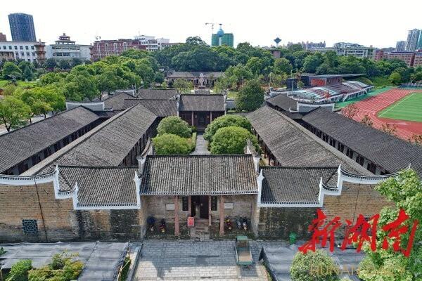 (平江天岳书院,八路军南下支队司令部曾经驻扎在这里。 湖南日报·新湖南客户端记者 童迪 摄)