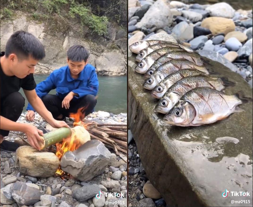 TikTok用户@bashan0915 在山水间做鱼
