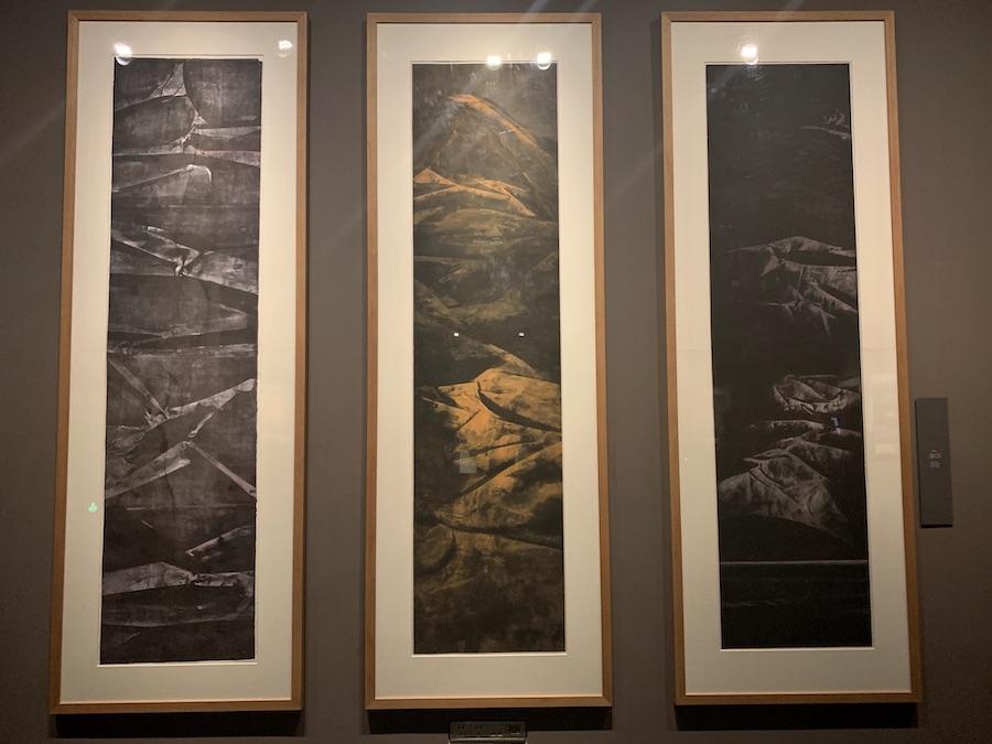 木心的转印画作品。拍摄于木心美术馆。