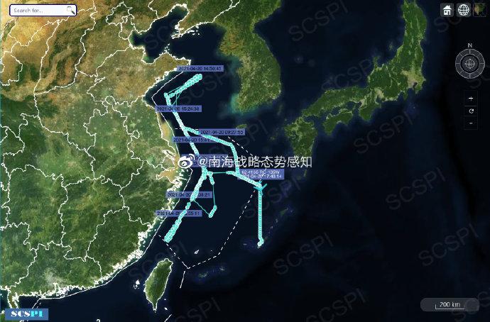 美军机南海大范围侦察 近距离侦察广东海南等地