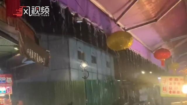 日月潭下雨10分钟 民众兴奋拍照