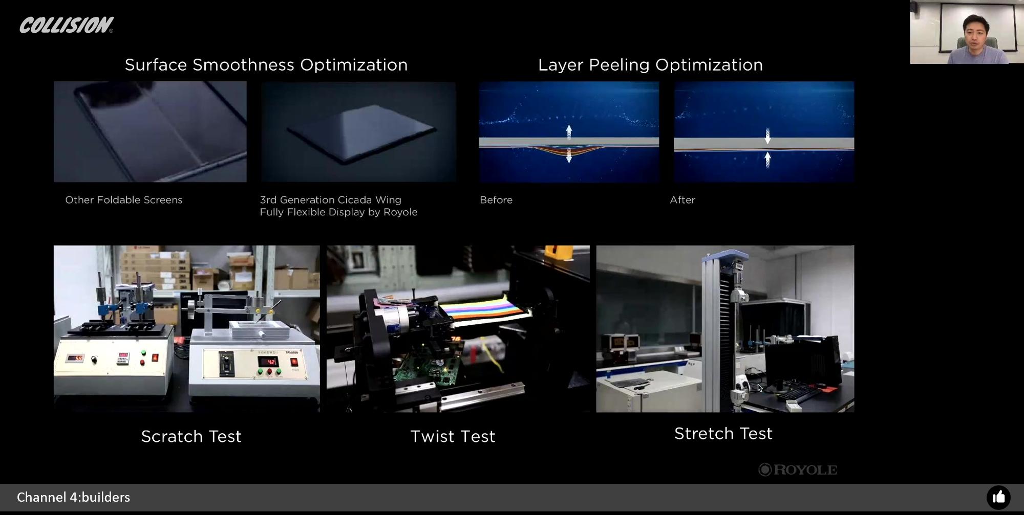 图7:基于柔宇全柔性技术优化模型,柔宇科技自主研发生产的全柔性显示屏需要反复经历多项专业权威测试