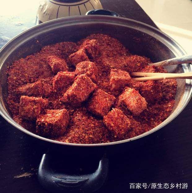 """△土家霉豆腐。图by 百家号""""原生态乡村游"""""""