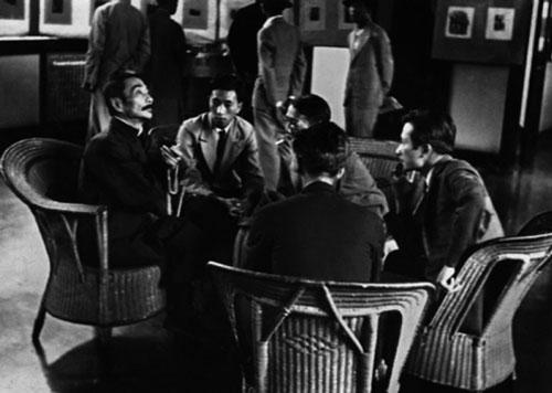 鲁迅在第二届全国木刻展览中与青年木刻家交谈 沙飞 图