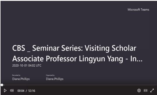 堪培拉大学Ian Maclean博士在学术报告中介绍杨凌云老师