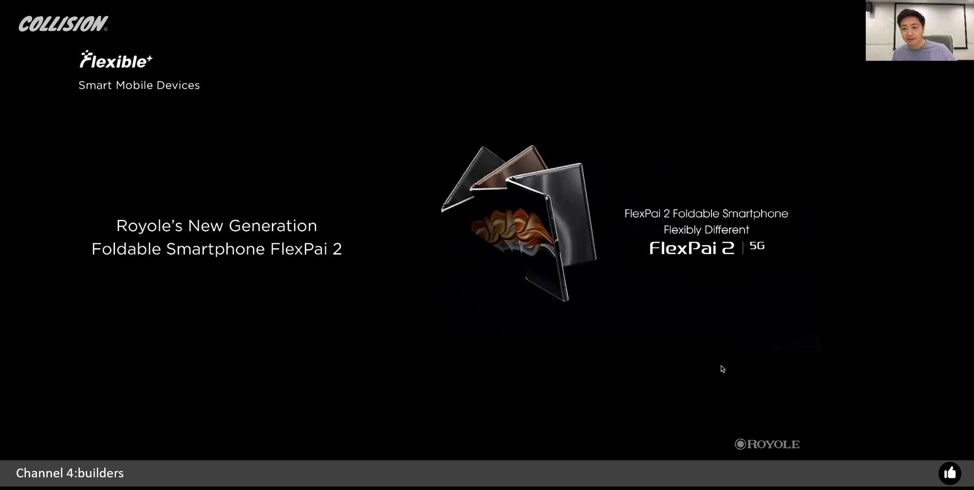 图4:柔宇科技基于自主核心技术发布的新一代5G折叠屏手机FlexPai 2