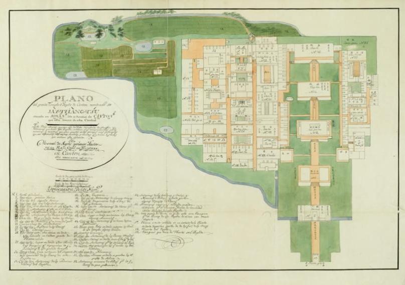1796年西班牙人阿格特订制海幢寺水彩画册,广州市海幢寺藏