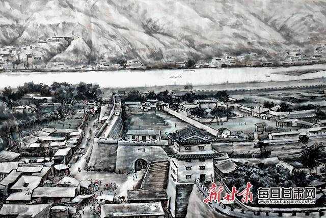 《金城咸丰时全景图》长卷局部 金奉乾 摄