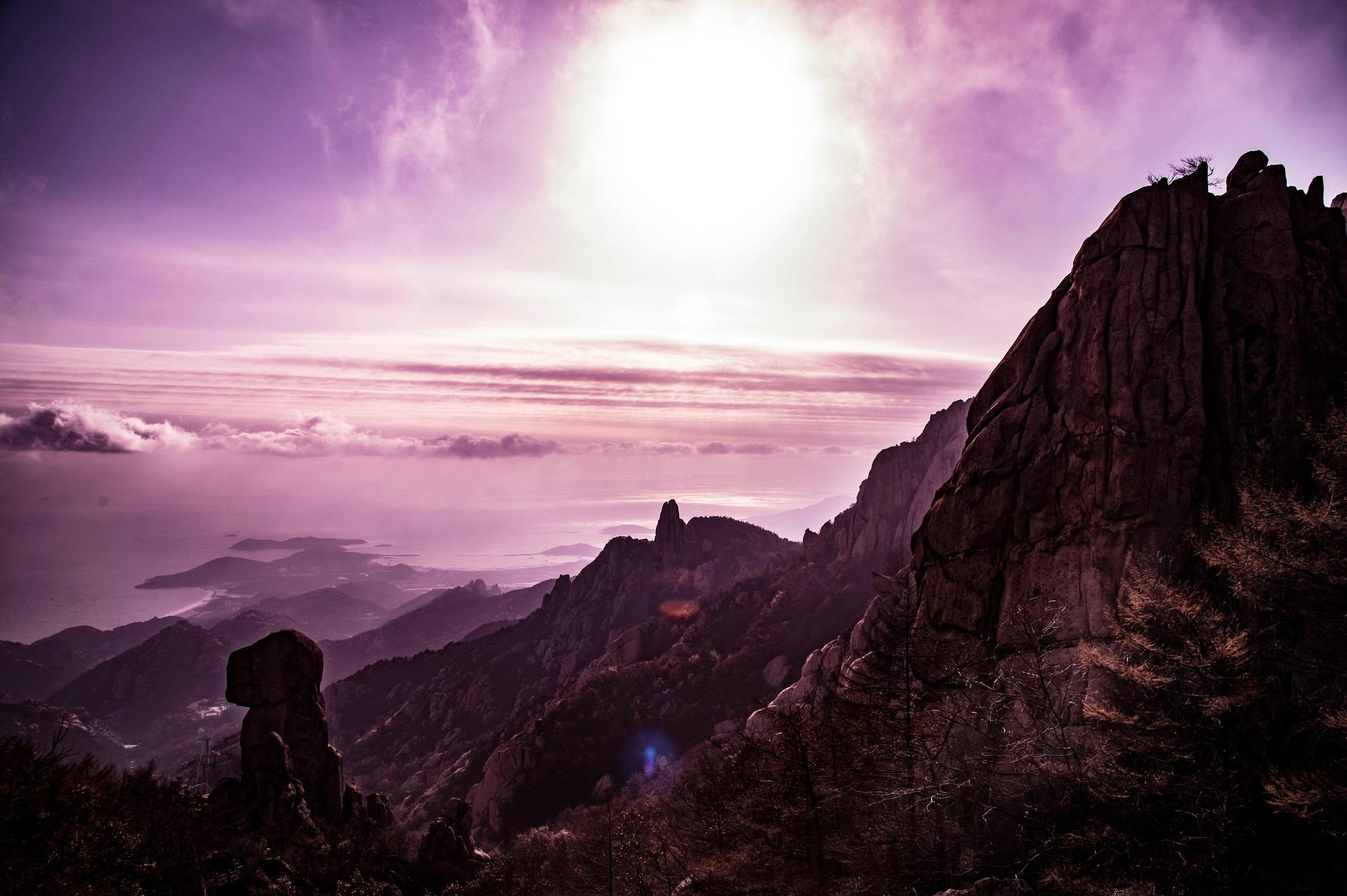 崂山之巅云雾环绕 在茫茫云雾之中看杜鹃花