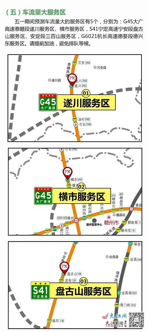 """一图读懂!""""五一""""江西高速出行""""避堵""""指南来了"""