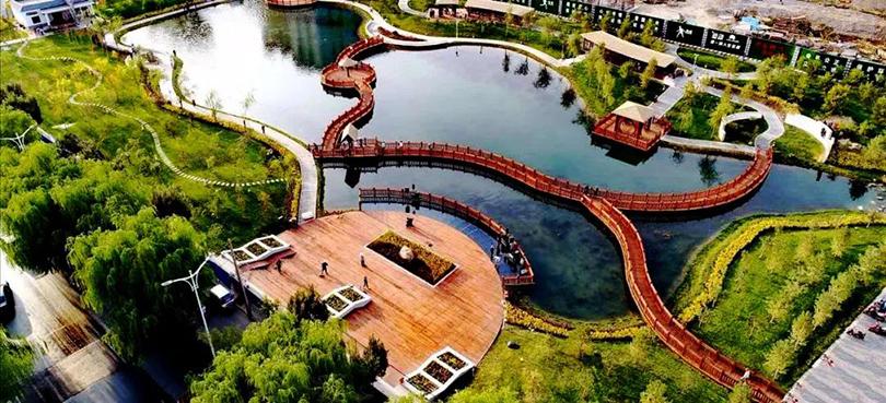 ▲甘州城市小公园