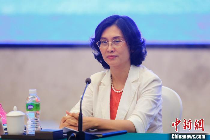 图为广东省江门市委副书记、市长吴晓晖与记者座谈。 王骏 摄