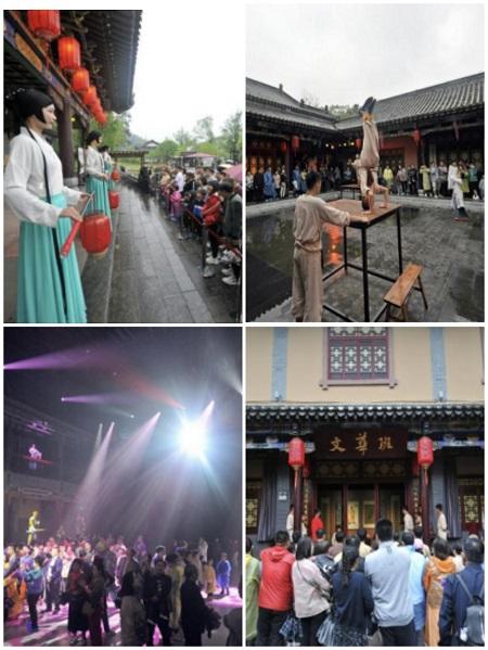 五柳馆《湘遇桃花源》的表演是众多游客的不二选择