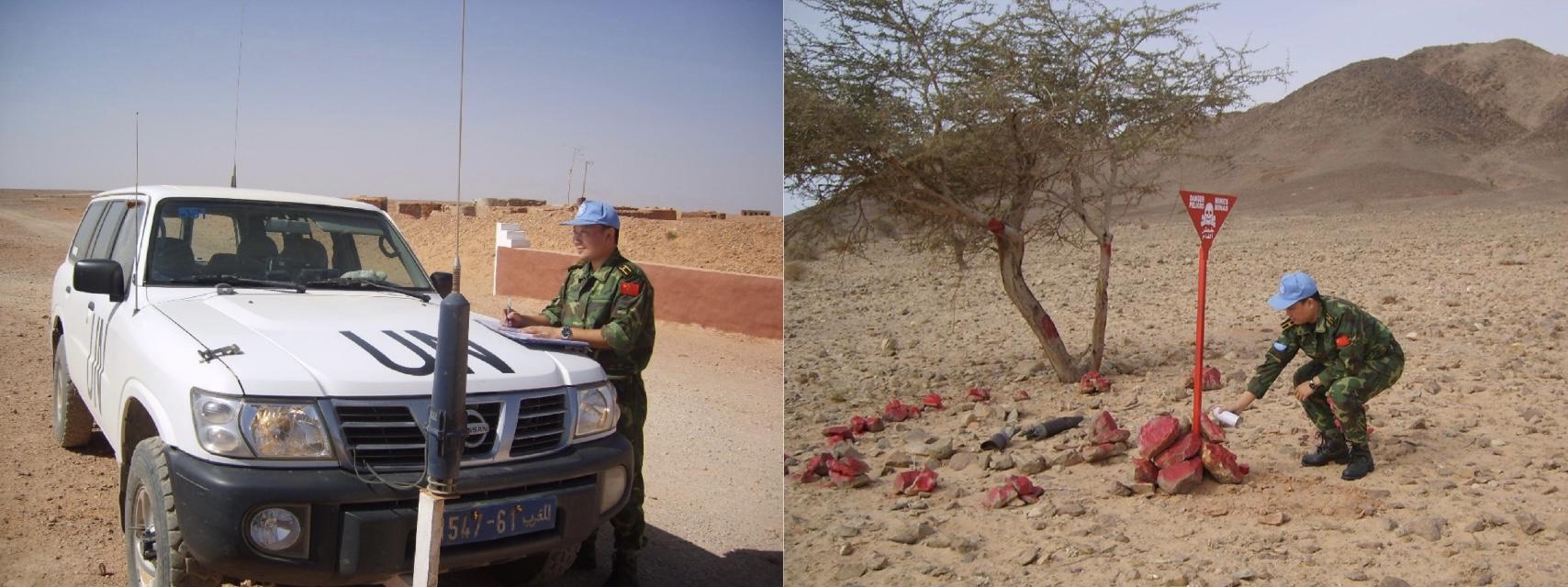 李老师曾在非洲西撒哈拉地区执行联合国维和任务