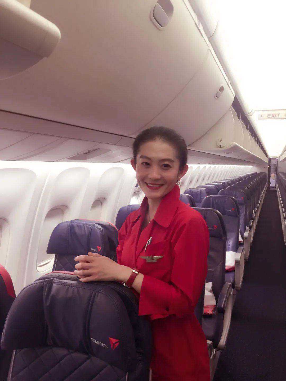 王喆在达美航空做空乘 图片来源:译匠