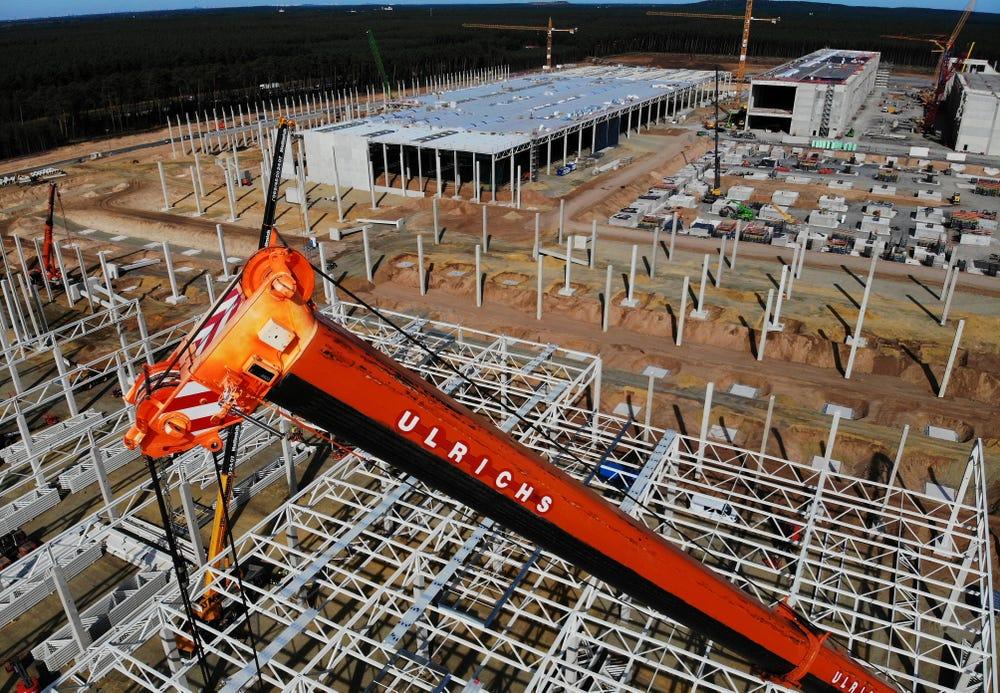 特斯拉德國工廠正在建造中