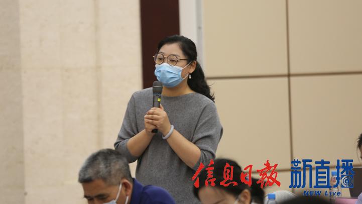 中国旅游报提问(文颖 摄)