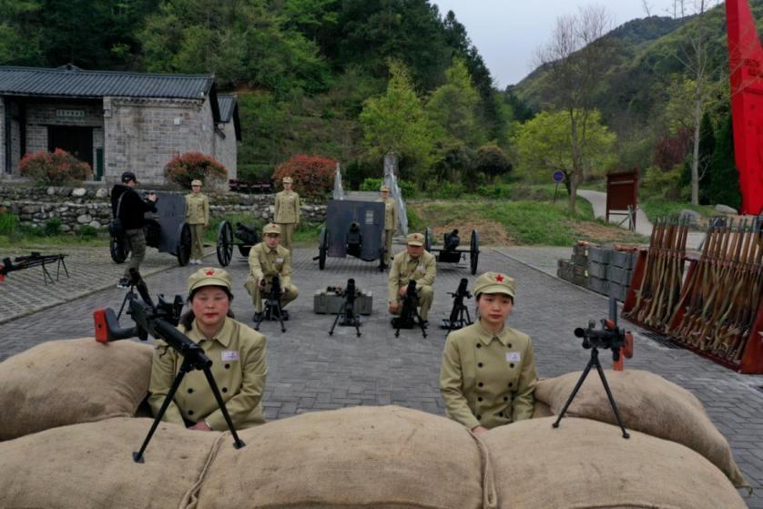 刘邓大军千里跃进大别山前方指挥部广场兵营