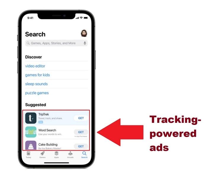 这也能双标?苹果在搜索界面引入付费广告推荐单元