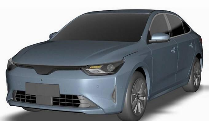威马首款轿车实拍曝光尺寸超Model 3 年内上市-图3