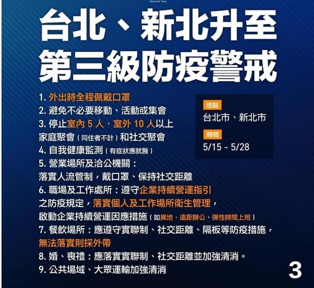 台湾防疫警戒已升至?三级:多所高校实?施封闭,超市货架?被抢购一空