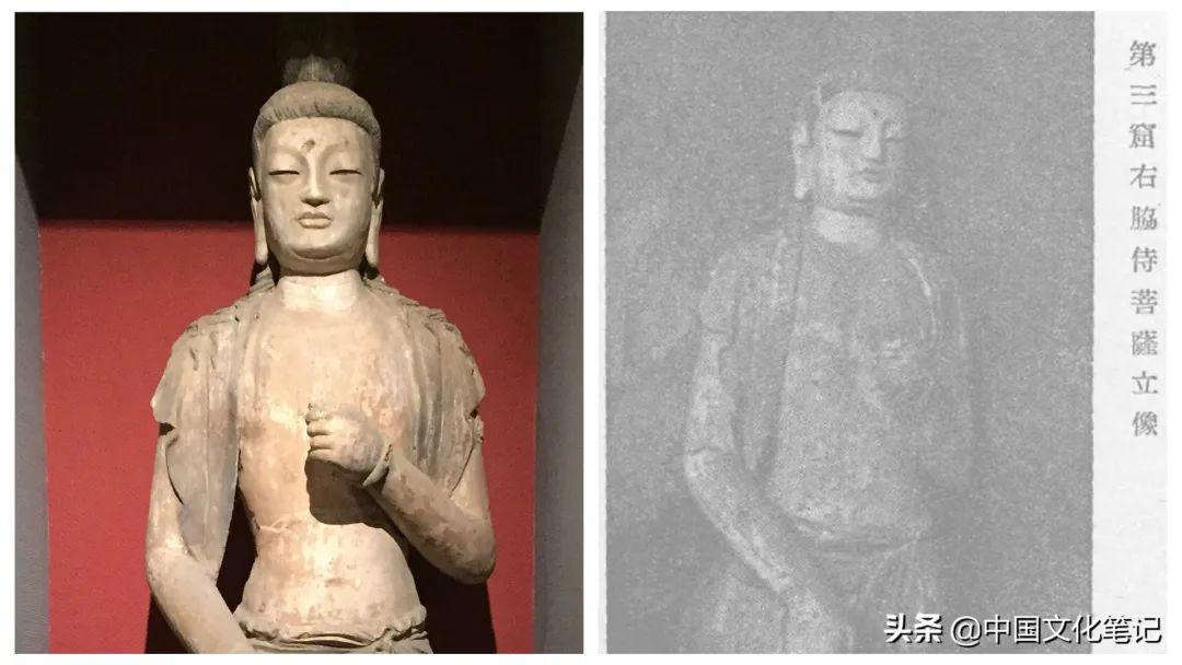 甘肃省博物馆所陈列天梯山塑像,史岩曾在原窟拍过