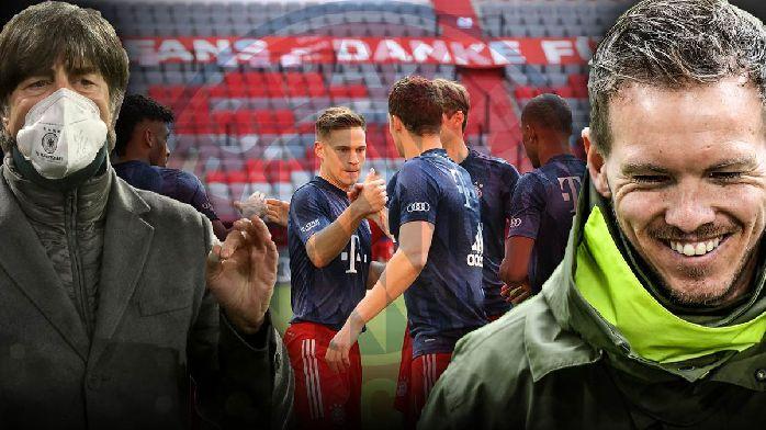 勒夫比埃尔霍夫纳格尔斯曼均祝贺拜仁夺得九连冠