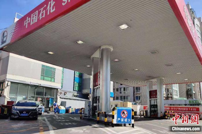 北京海淀区一加油站。<a target='_blank' href='http://www.chinanews.com/' >中新网</a>记者 张旭 摄
