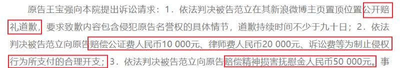 """王宝强状告前妻好友""""侵犯名誉"""",最终获赔4.2万元"""