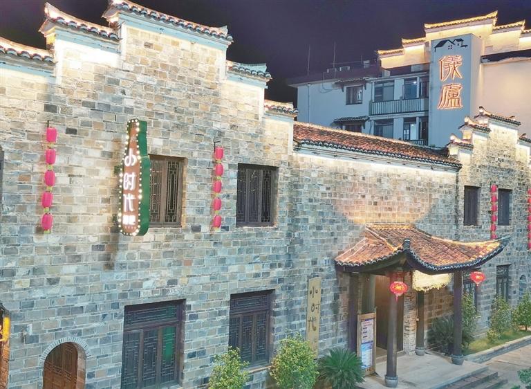 黎川古城明清老街夜景。