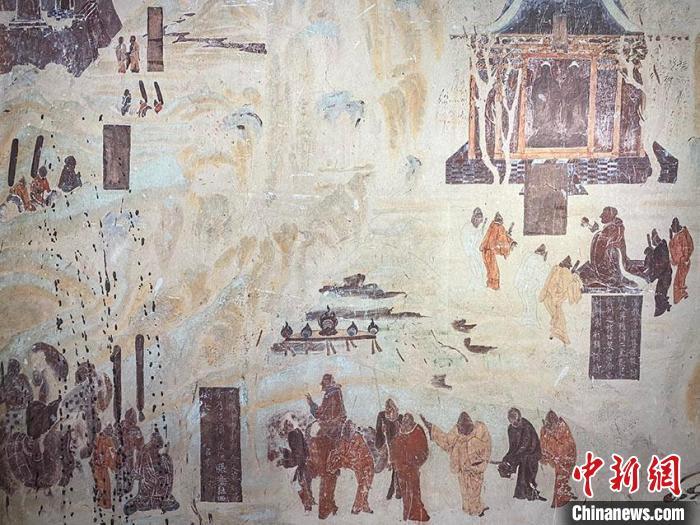 敦煌壁画艺术精品长春开展再现古丝绸之路曾经的辉煌