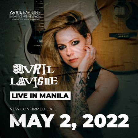 艾薇儿2022年将重启亚洲巡演?主办公司已晒出宣传海报