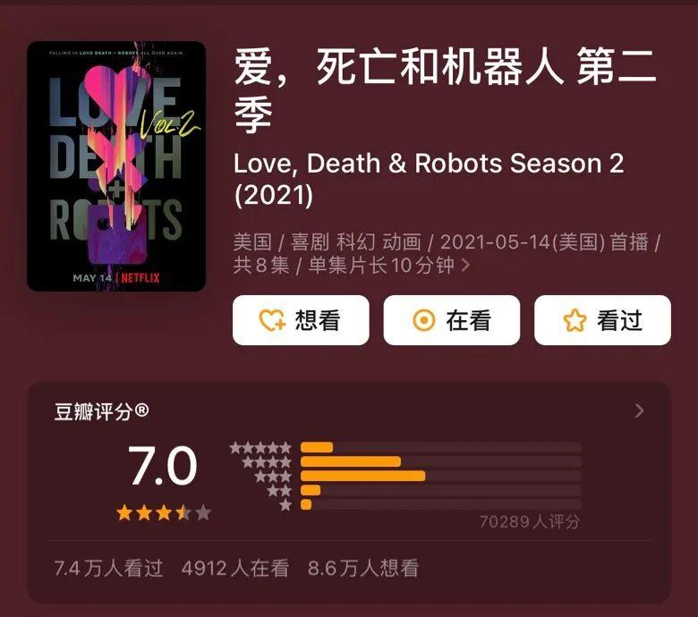 《愛,死亡和機器人》:神劇跌落,只需一季