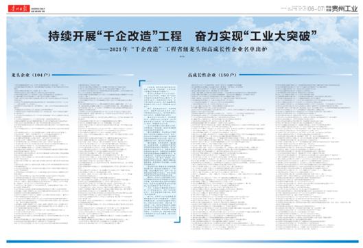 """圈重点!贵州""""千企改造""""名单出炉,金沙酒业被列为""""省级龙头企业"""""""