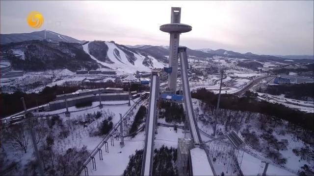 跳台滑雪的魅力!看到这场地就想到了冬奥会比赛时的紧张刺激